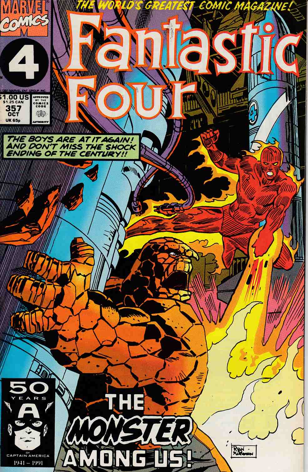 Fantastic Four #357 Near Mint Minus (9.2) [Marvel Comic] LARGE