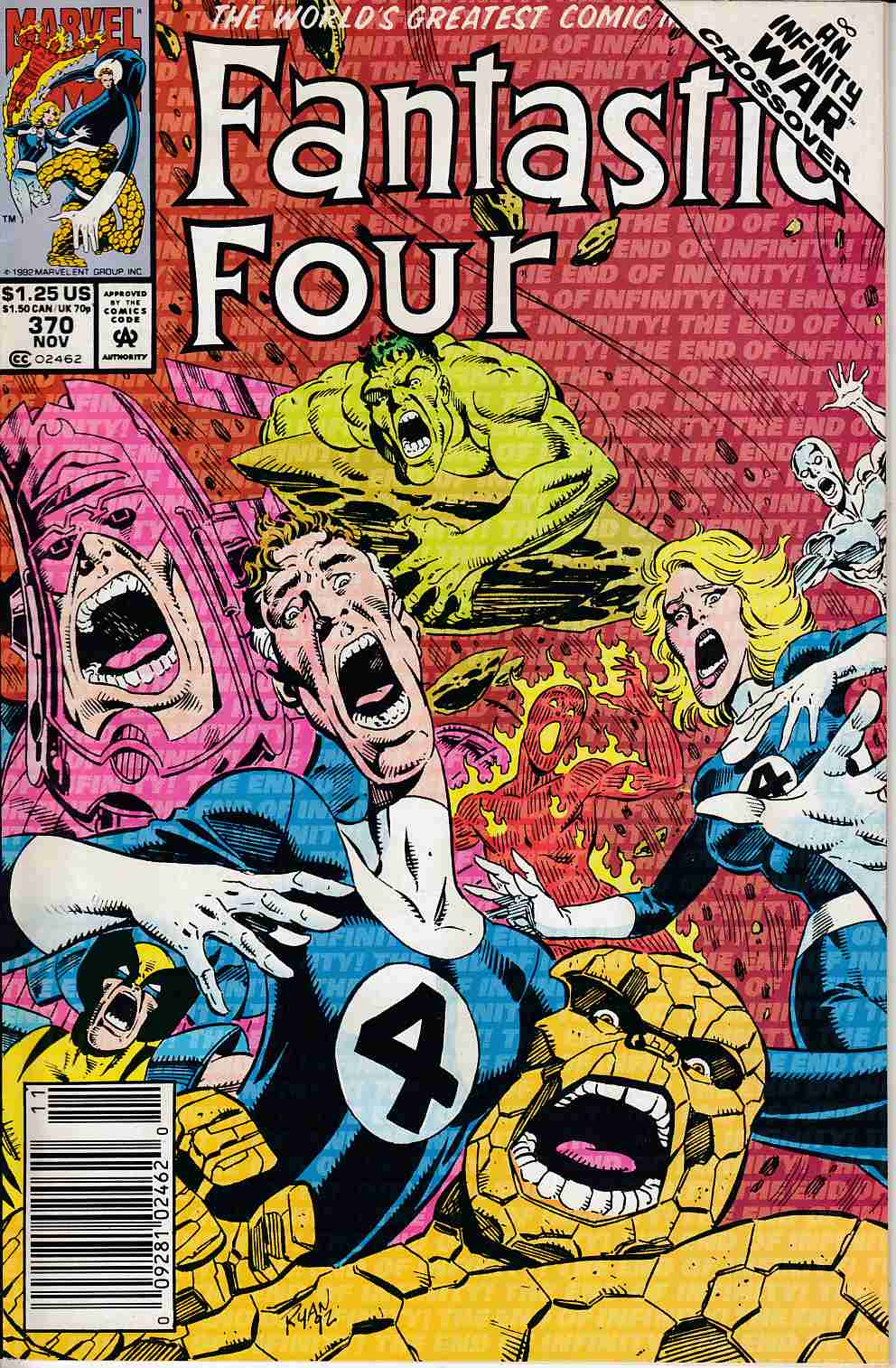 Fantastic Four #370 Newsstand Edition Near Mint (9.4) [Marvel Comic] LARGE