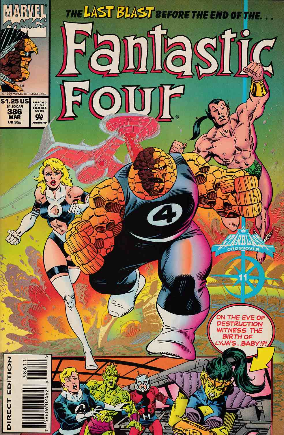 Fantastic Four #386 Near Mint (9.4) [Marvel Comic] LARGE