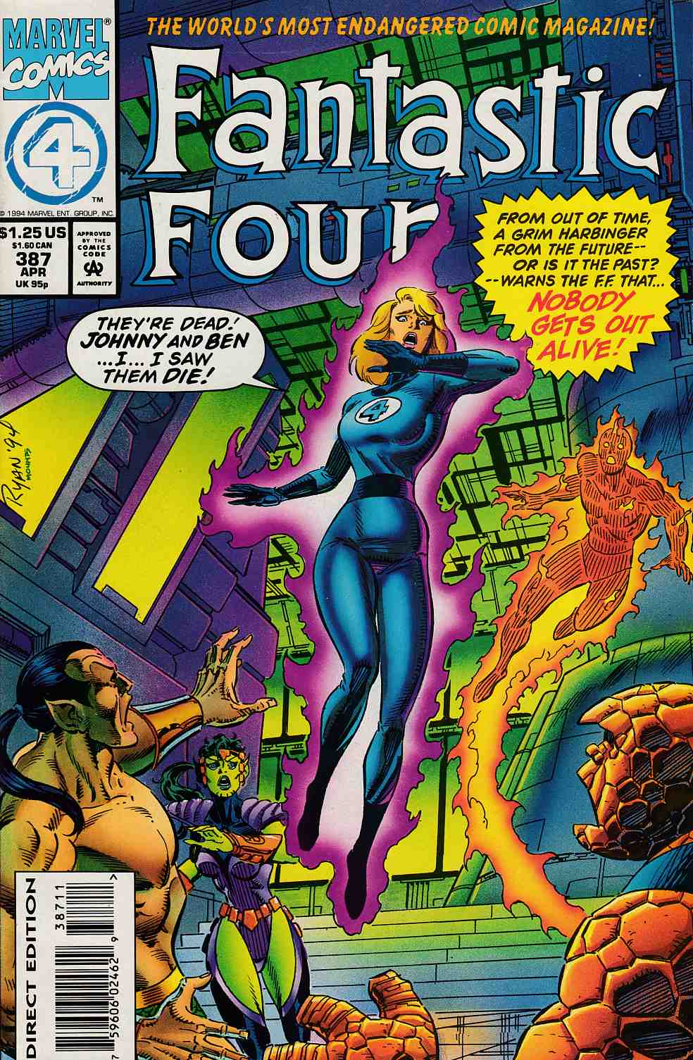 Fantastic Four #387 Near Mint (9.4) [Marvel Comic] LARGE