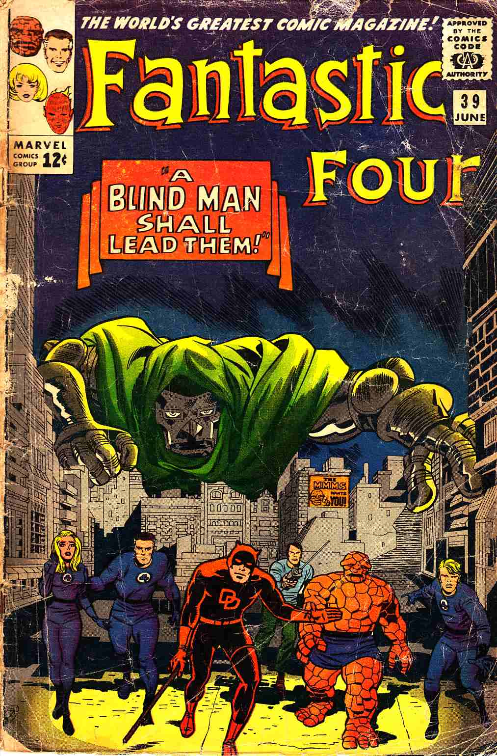 Fantastic Four #39 Fair/Good (1.5) [Marvel Comic] LARGE
