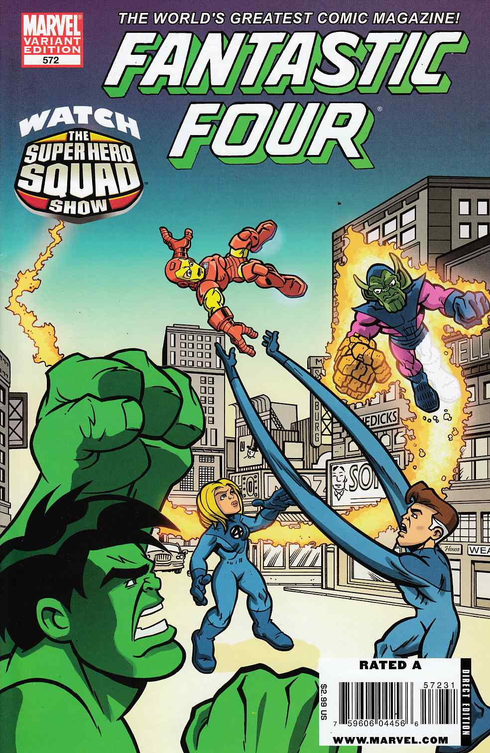 Fantastic Four #572 Super Hero Squad Variant Cover Very Fine (8.0) [Marvel Comic] LARGE