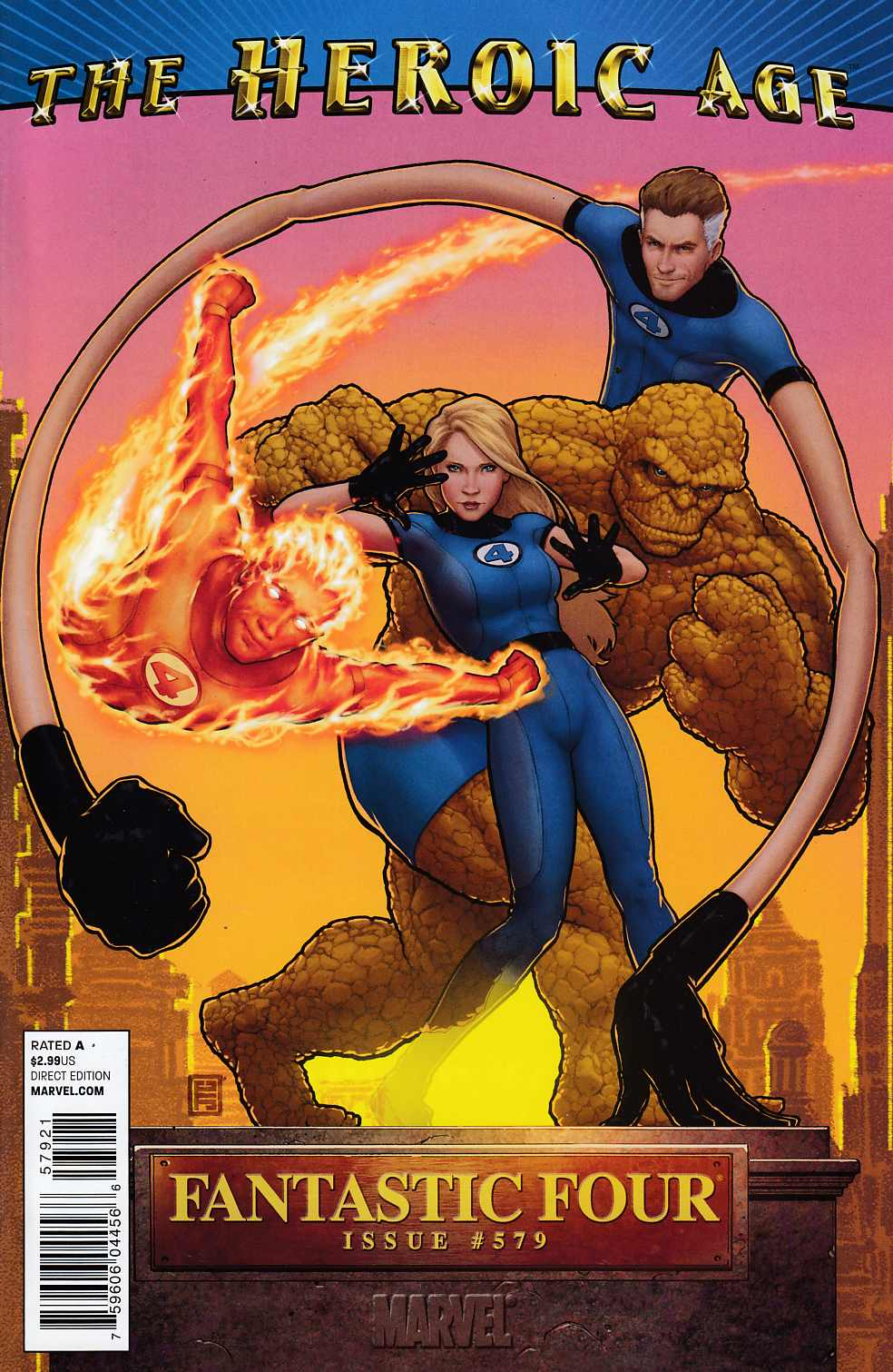 Fantastic Four #579 Heroic Age Variant Cover Very Fine Plus (8.5) [Marvel Comic] LARGE