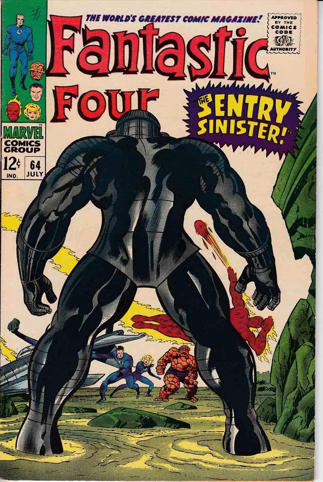 Fantastic Four #64 Very Fine Minus (7.5) [Marvel Comic] LARGE