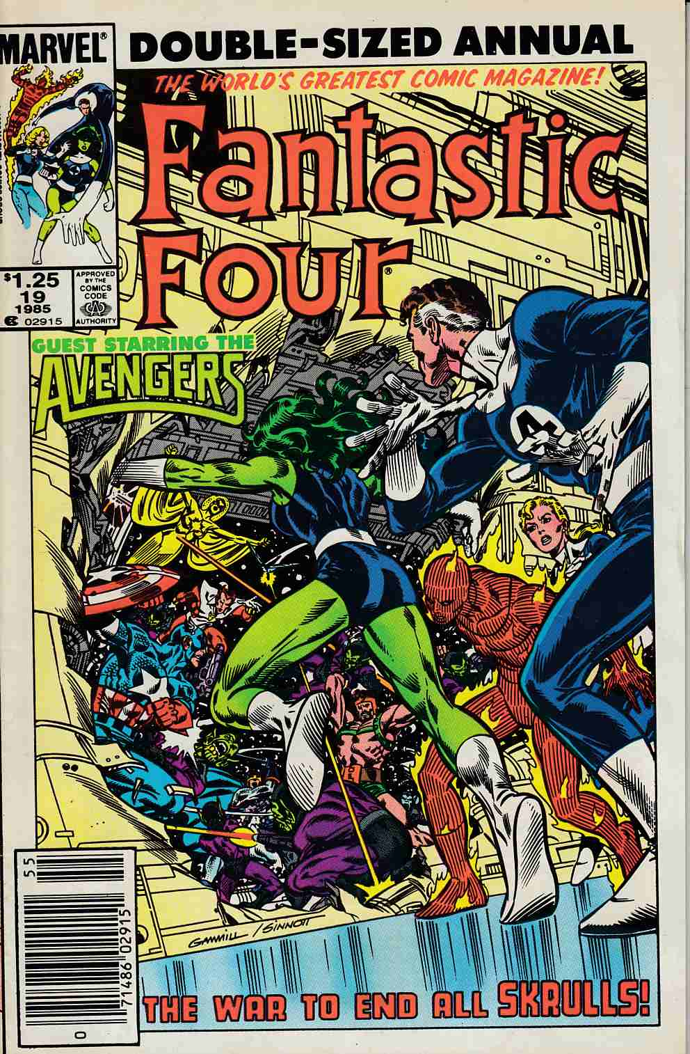 Fantastic Four Annual #19 Newsstand Edition Fine (6.0) [Marvel Comic] LARGE