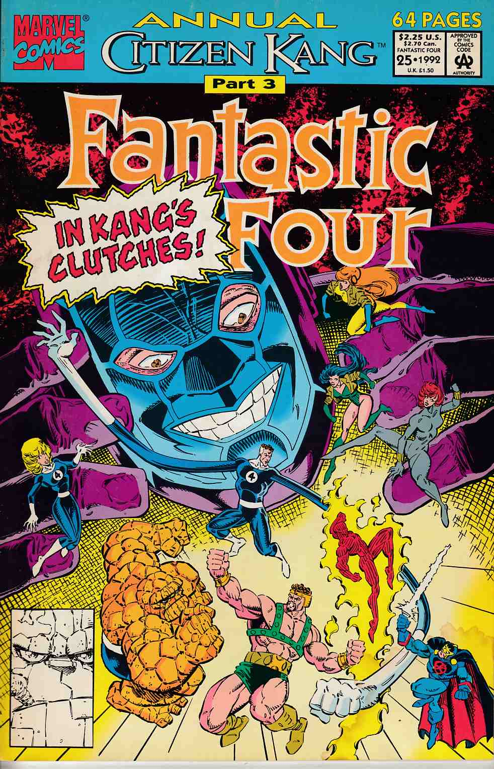 Fantastic Four Annual #25 Very Good (4.0) [Marvel Comic] LARGE