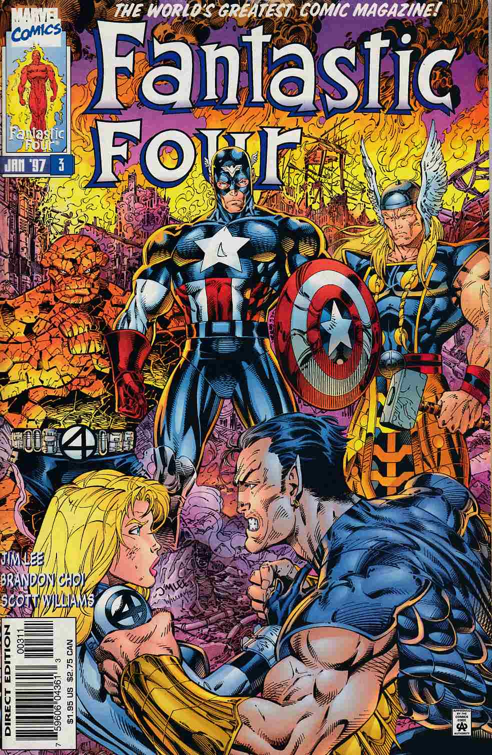 Fantastic Four #3 Fine/Very Fine (7.0) [Marvel Comic] THUMBNAIL
