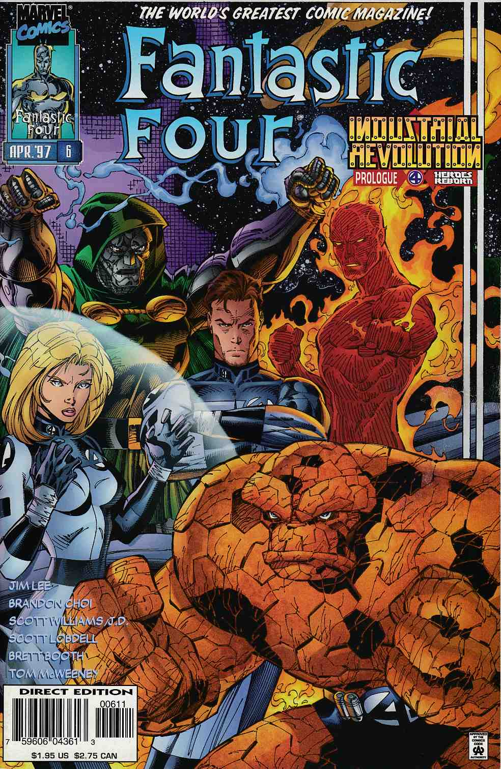 Fantastic Four #6 Near Mint Minus (9.2) [Marvel Comic] THUMBNAIL
