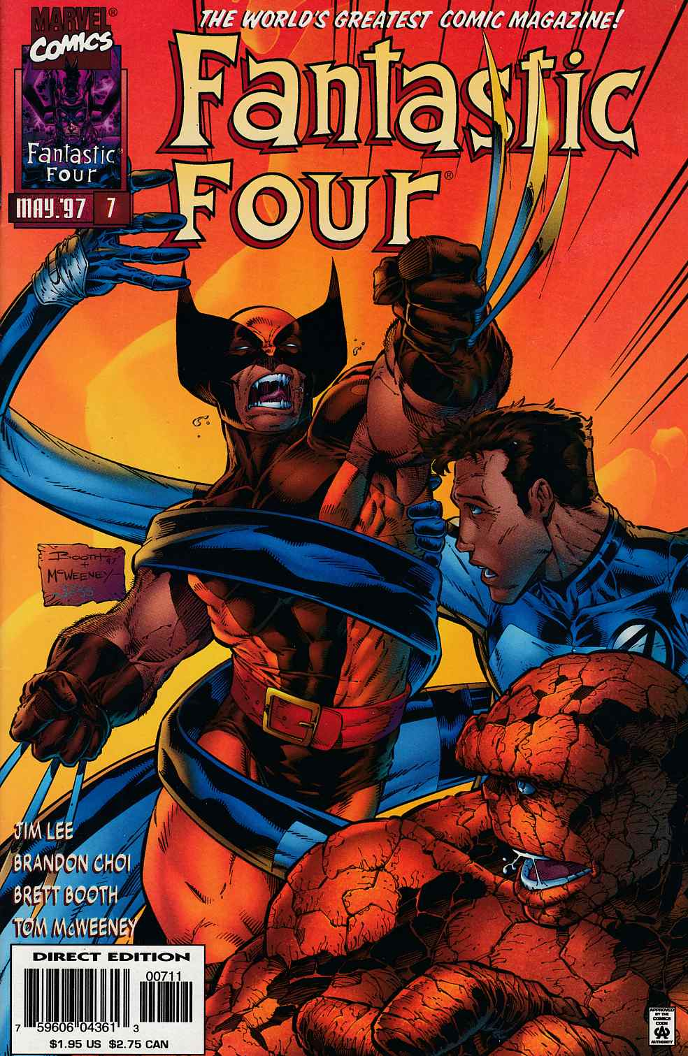 Fantastic Four #7 Near Mint (9.4) [Marvel Comic] THUMBNAIL