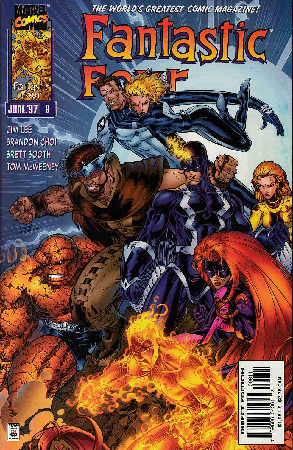 Fantastic Four #8 Fine/Very FIne (7.0) [Marvel Comic] THUMBNAIL