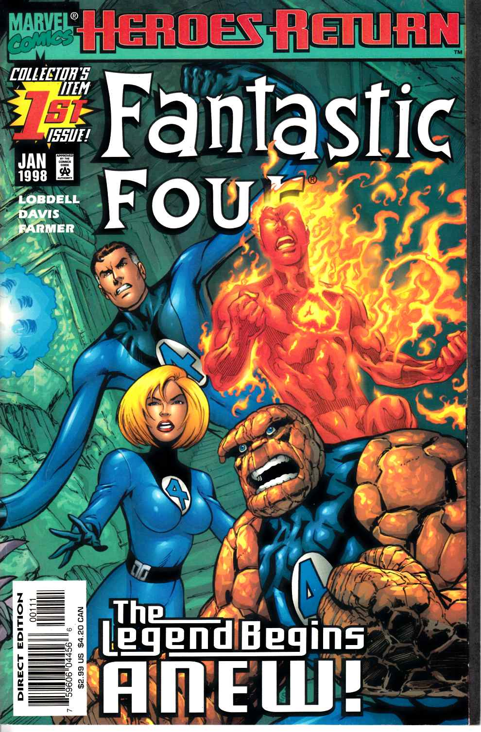 Fantastic Four #1 Near Mint Minus (9.2) [Marvel Comic] THUMBNAIL