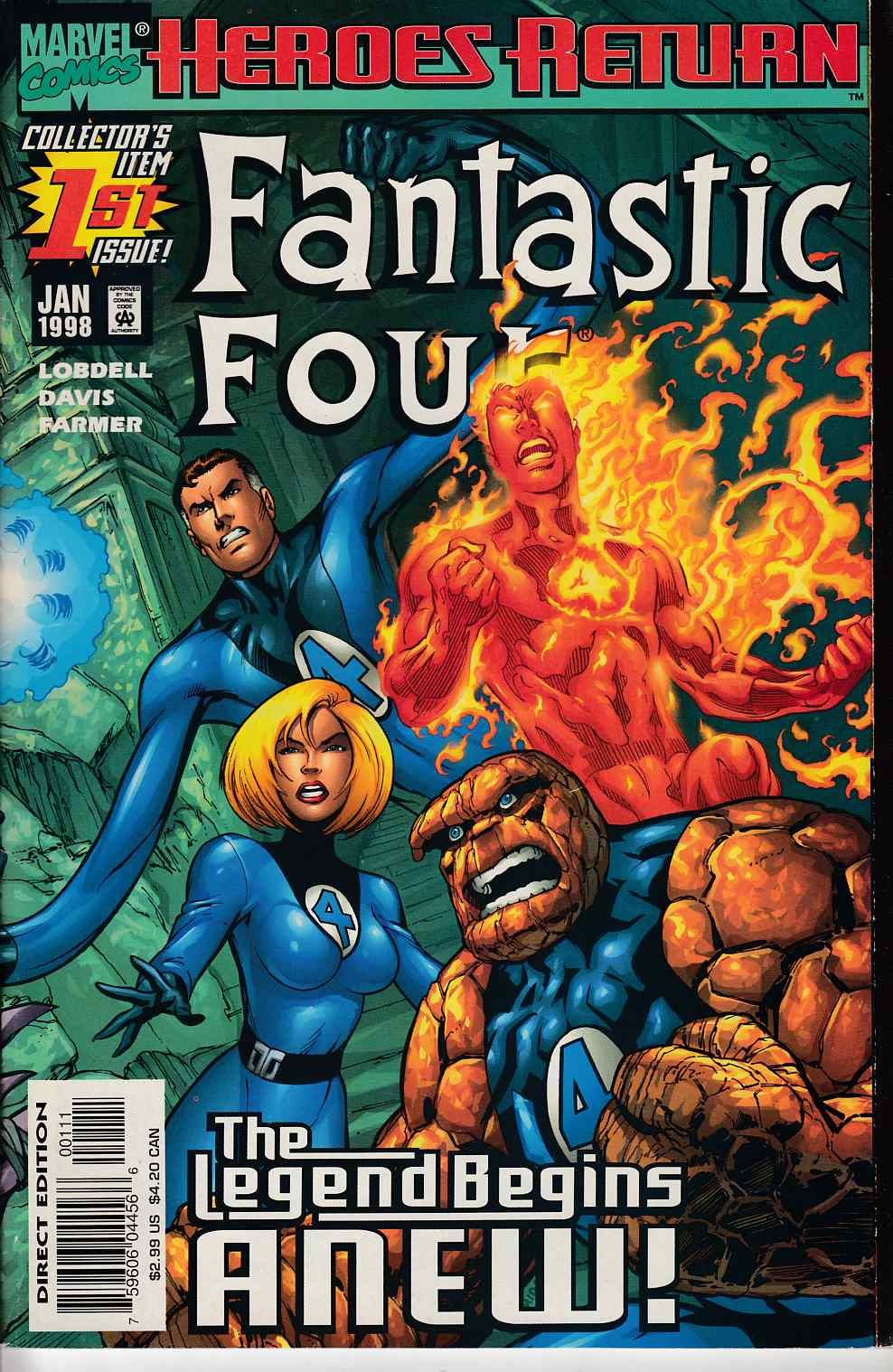 Fantastic Four #1 Very Good Plus (4.5) [Marvel Comic]_LARGE