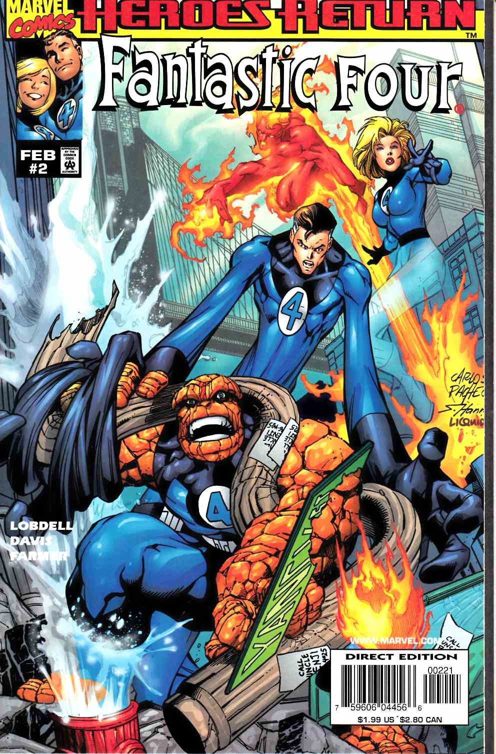 Fantastic Four #2 Cover B Near Mint (9.4) [Marvel Comic] THUMBNAIL