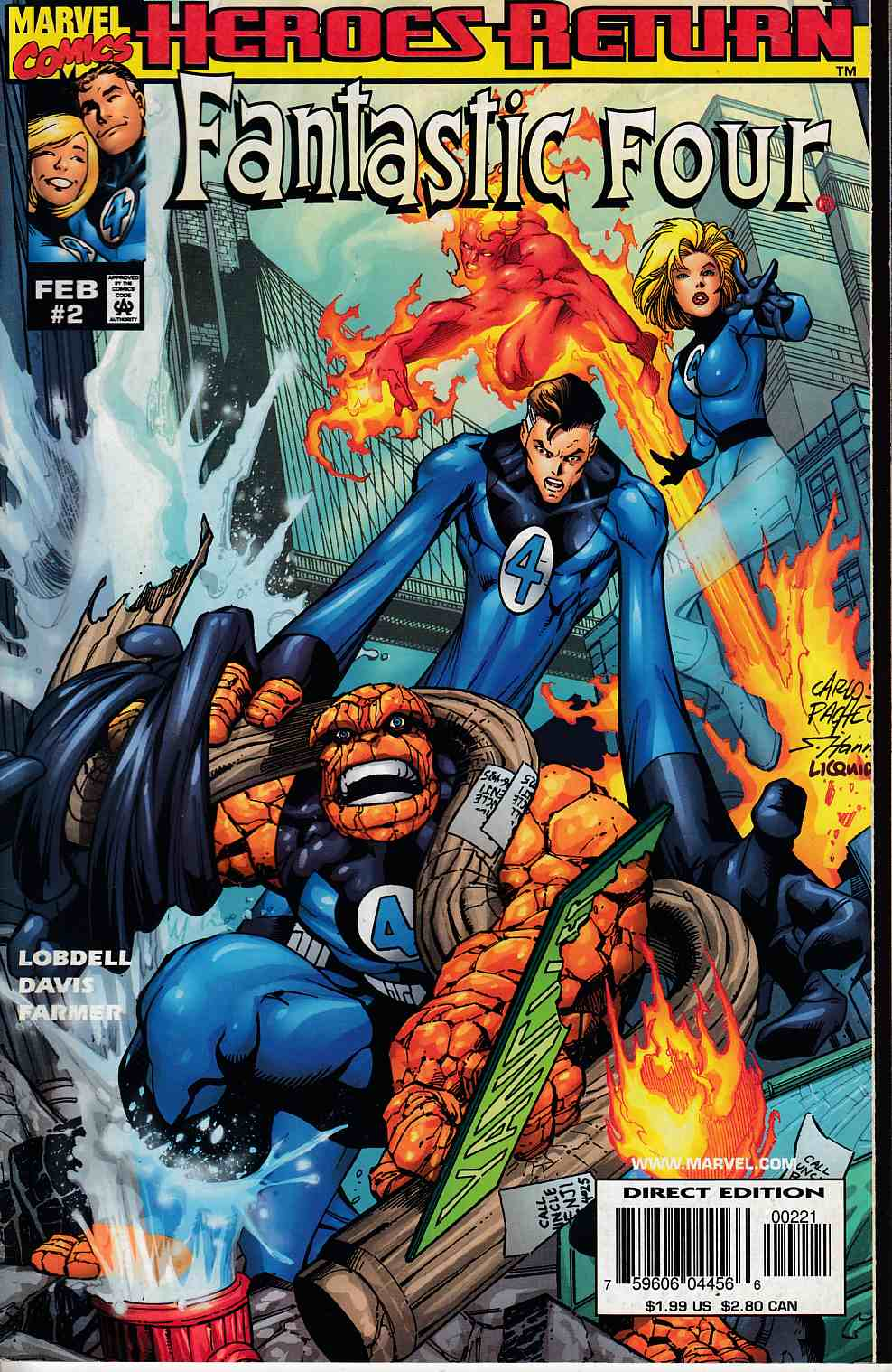 Fantastic Four #2 Cover B Very Fine (8.0) [Marvel Comic] THUMBNAIL