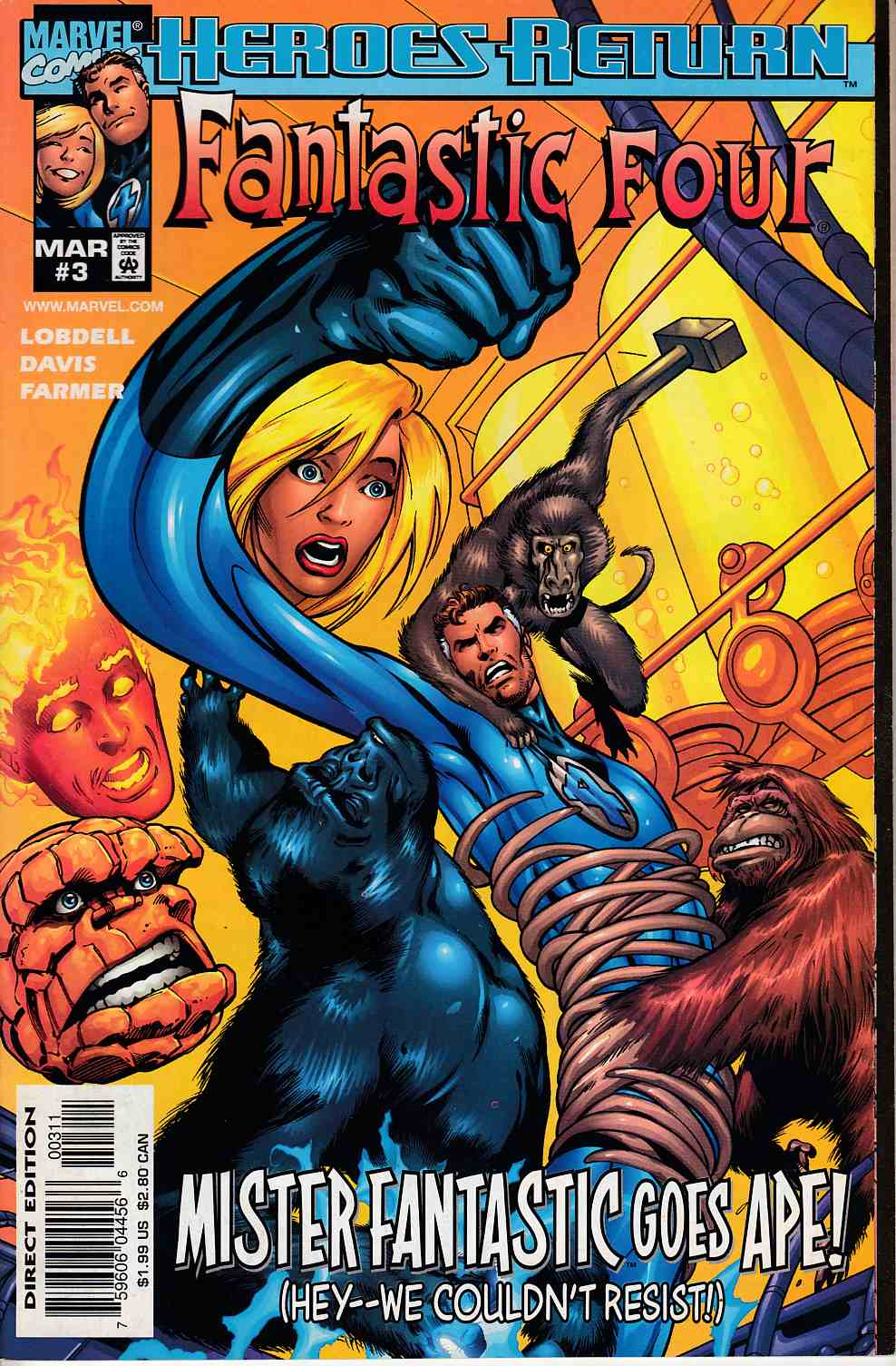 Fantastic Four #3 Very Fine (8.0) [Marvel Comic] LARGE
