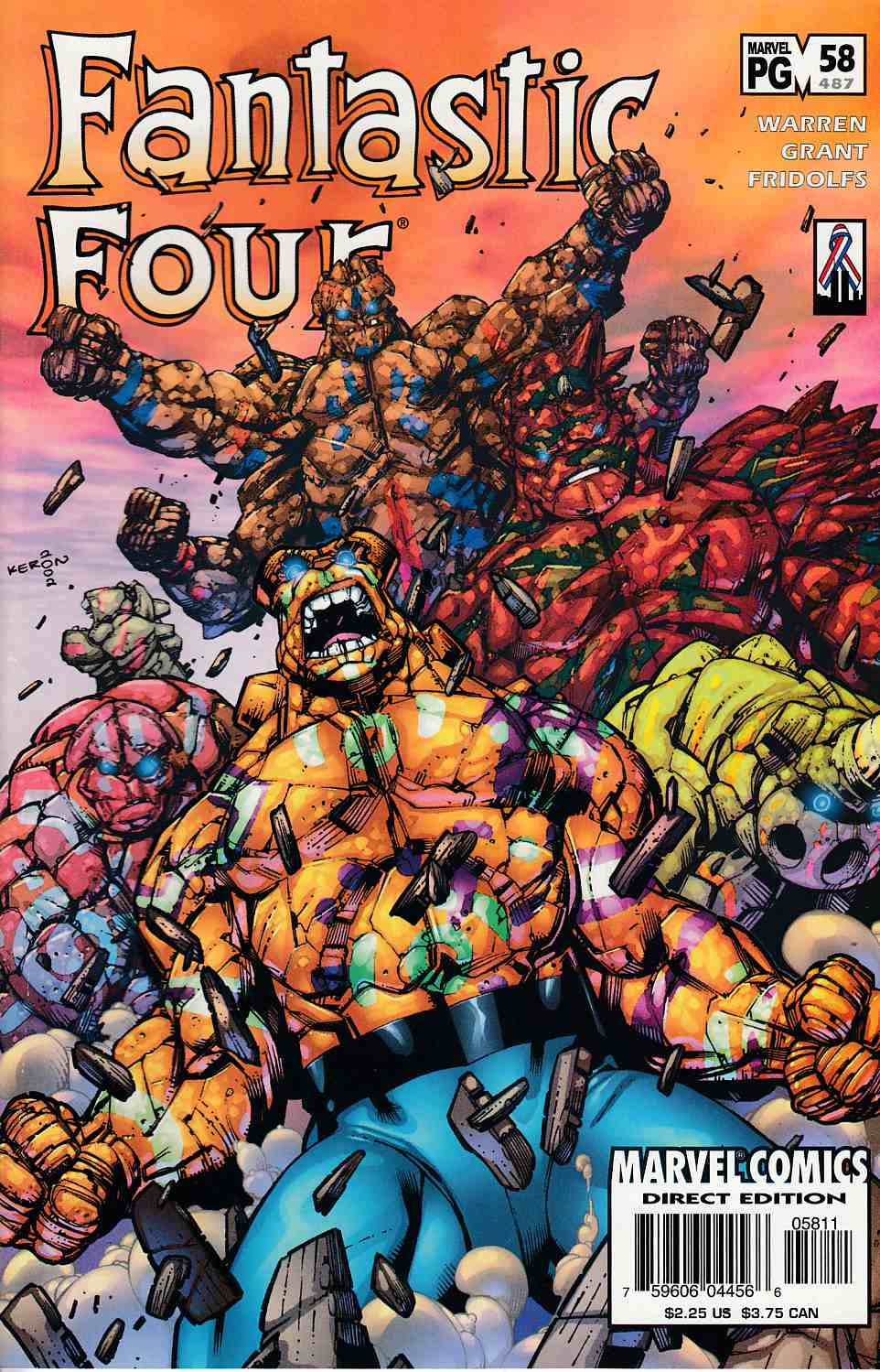 Fantastic Four #58 Very Fine (8.0) [Marvel Comic] LARGE