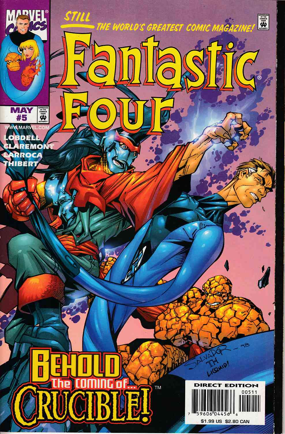 Fantastic Four #5 Very Fine (8.0) [Marvel Comic] THUMBNAIL