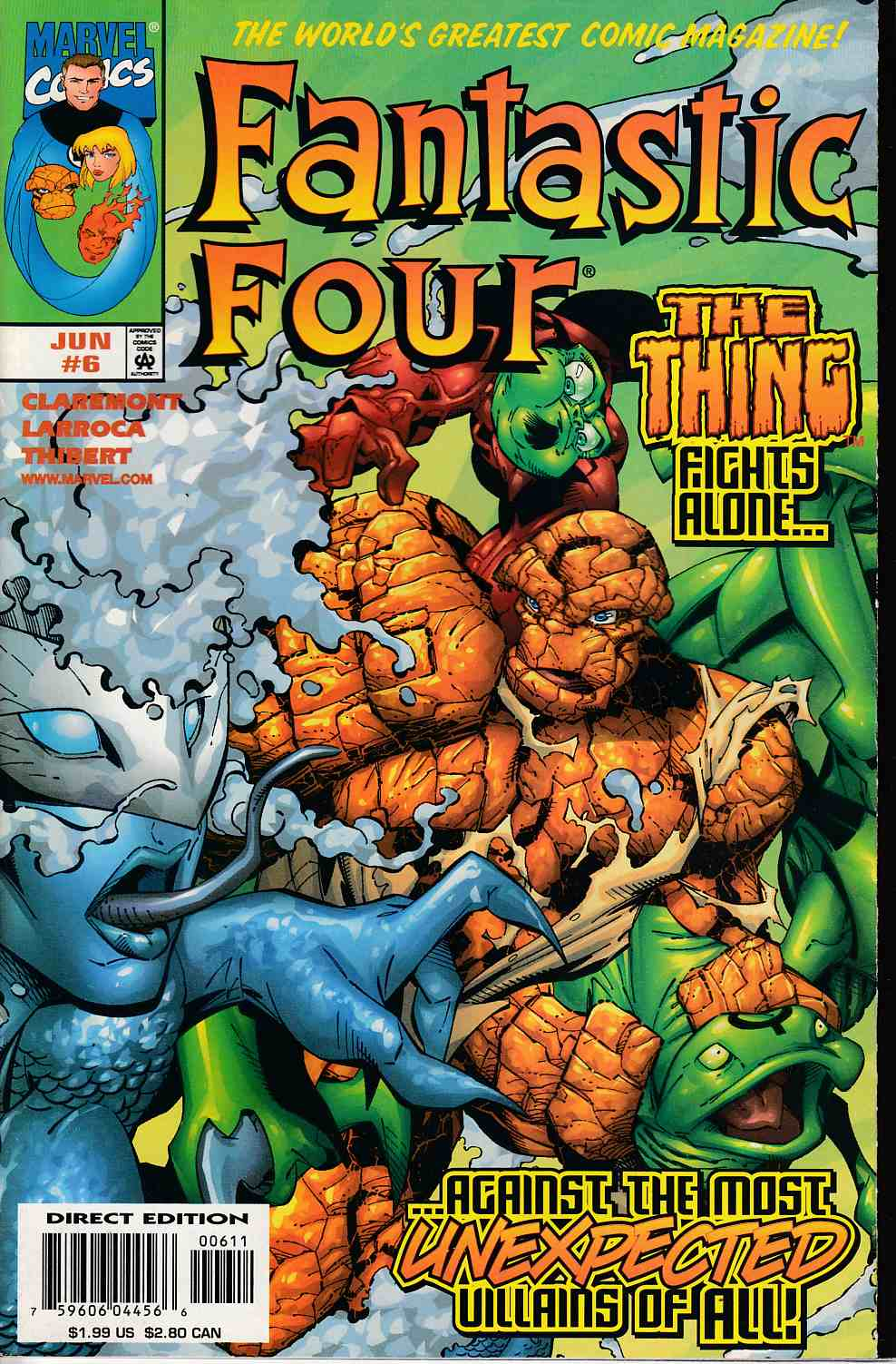 Fantastic Four #6 Very Fine (8.0) [Marvel Comic] THUMBNAIL