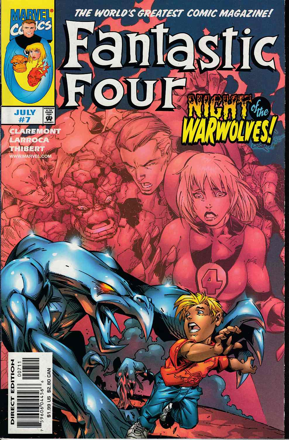Fantastic Four #7 Very Fine (8.0) [Marvel Comic] THUMBNAIL