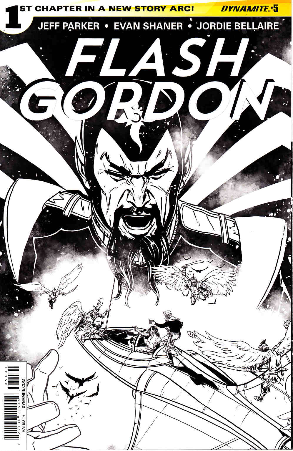 Flash Gordon #5 B&W Reorder Variant Cover [Comic] THUMBNAIL