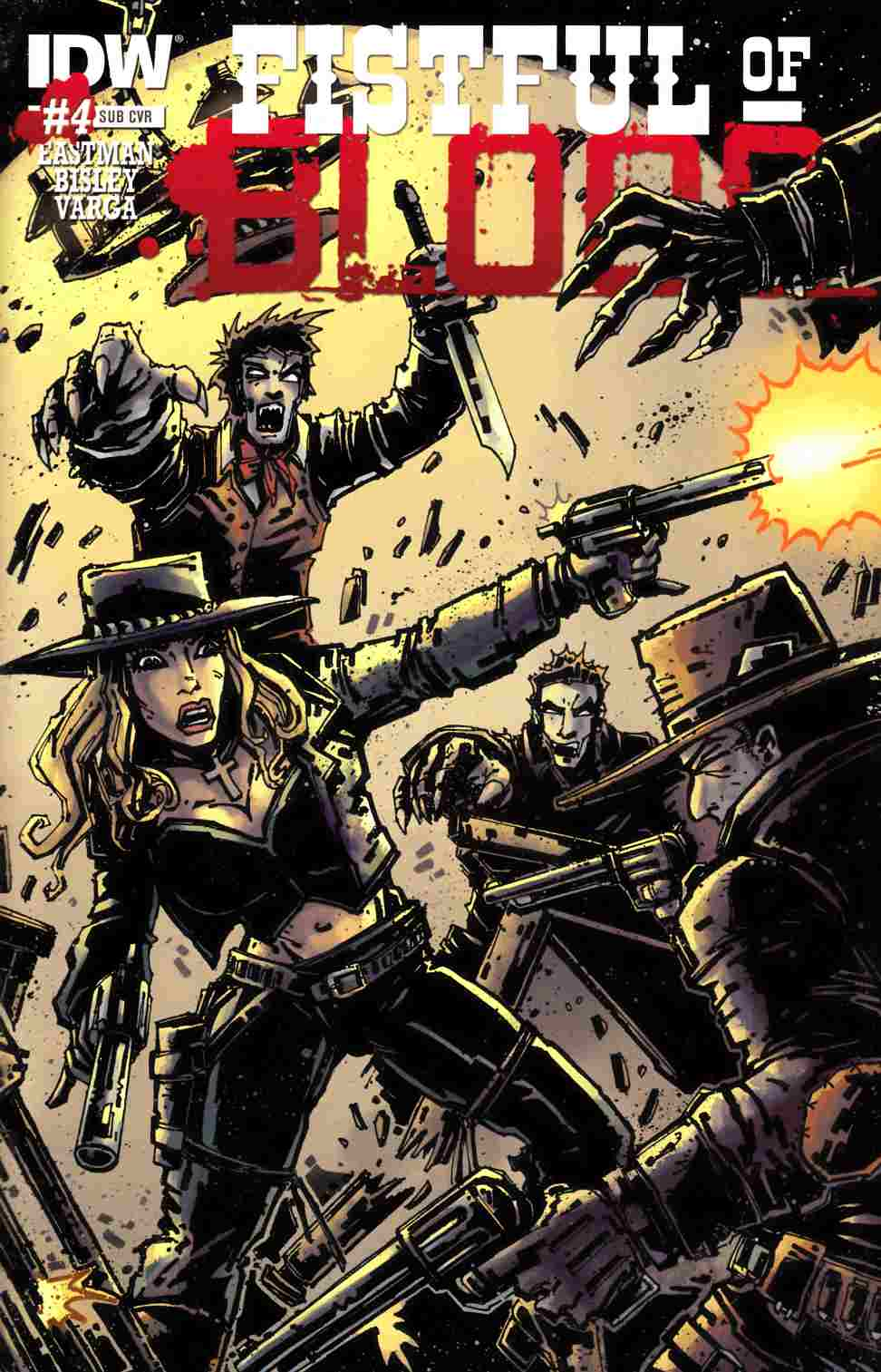 Fistful of Blood #4 Subscription Cover [IDW Comic] THUMBNAIL