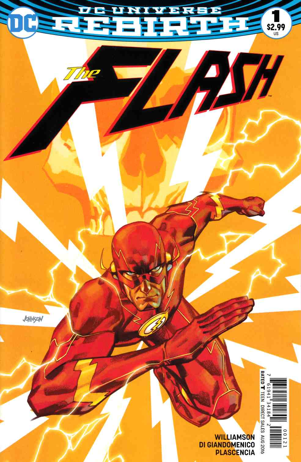 Flash #1 Johnson Variant Cover [DC Comic] THUMBNAIL