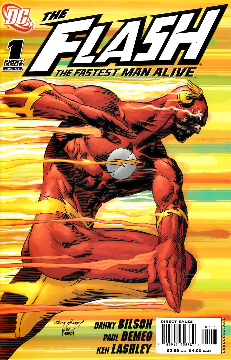 Flash the Fastest Man Alive #1 Kubert Variant Cover Near Mint (9.4) [DC Comic]_THUMBNAIL