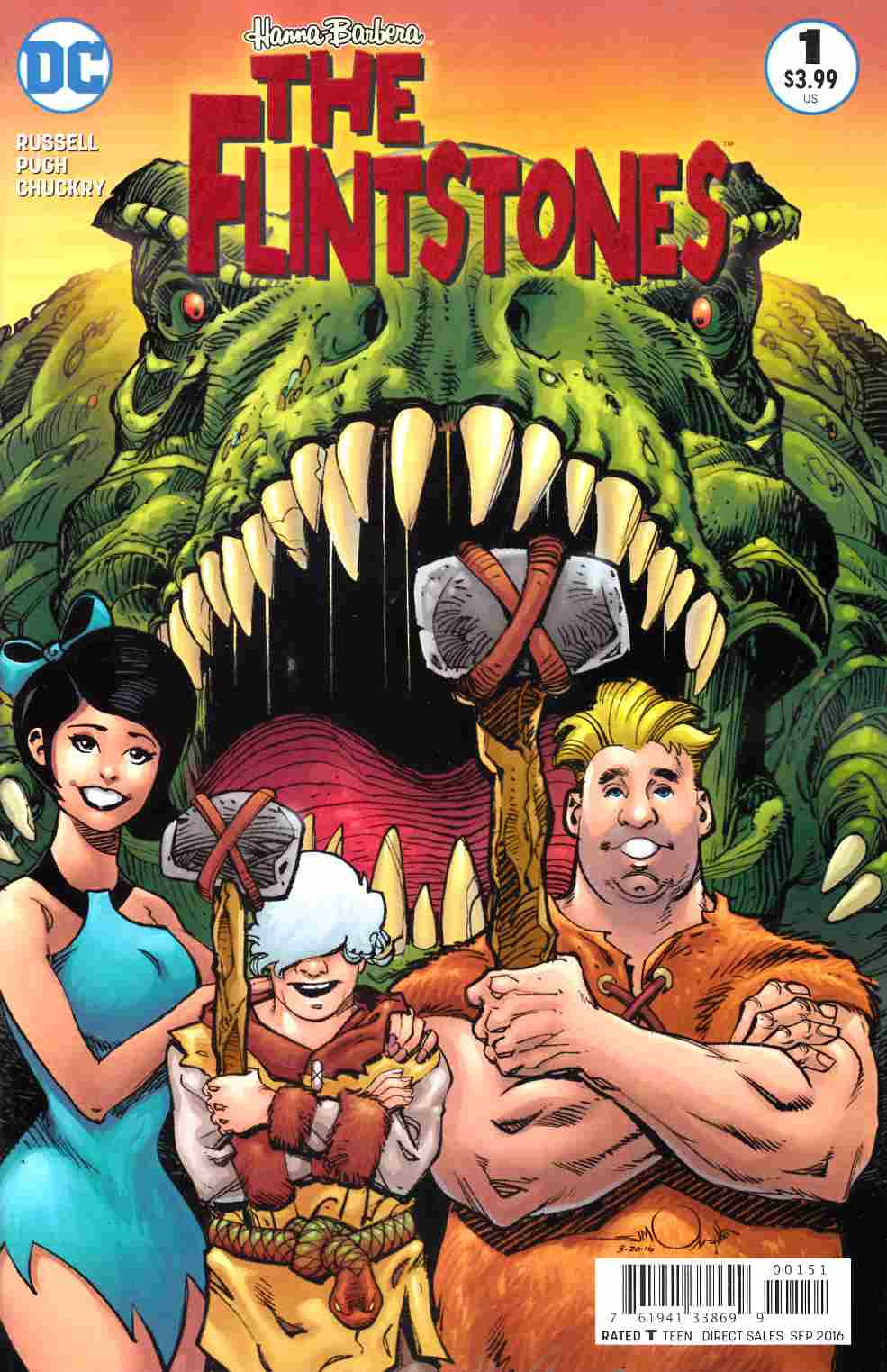 Flintstones #1 Barney & Betty Variant Cover [DC Comic] LARGE