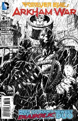 Forever Evil Arkham War #4 B&W Incentive Cover [Comic] LARGE