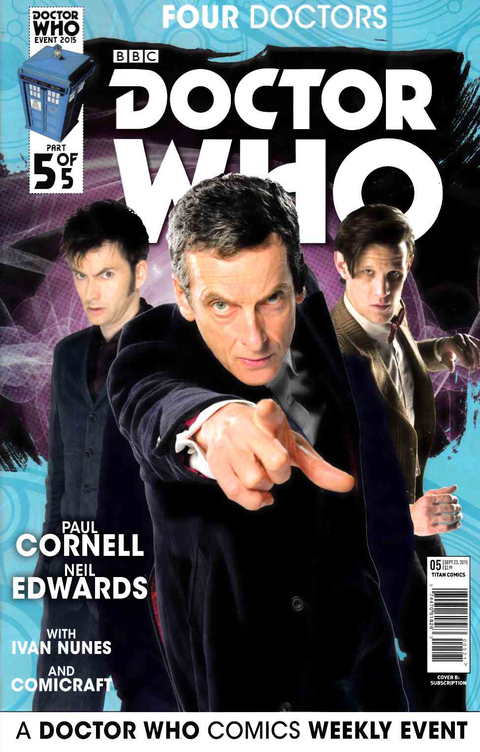 Doctor Who 2015 Four Doctors #5 Subscription Photo [Titan Comic] LARGE