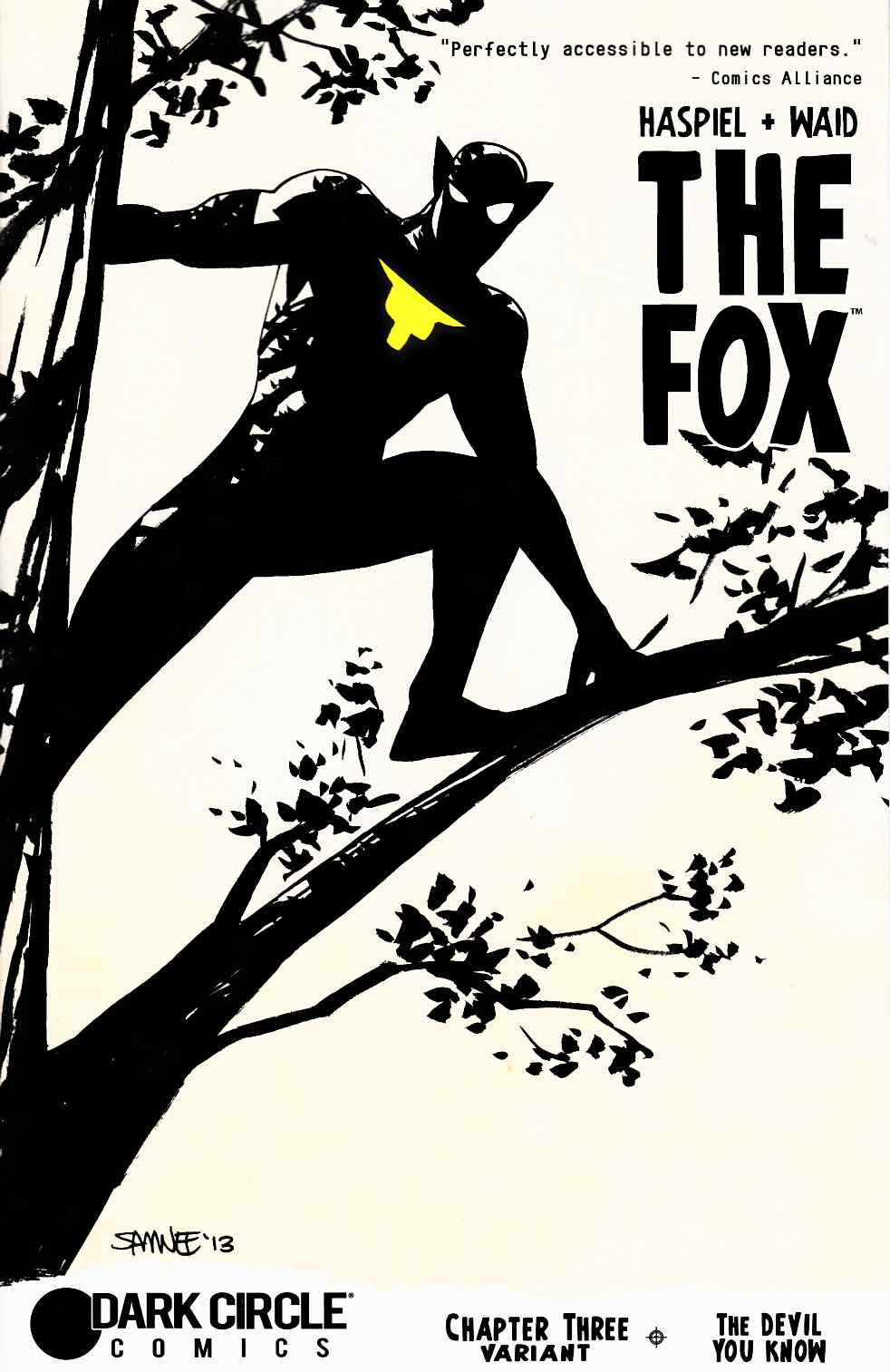 Fox (Dark Circle) #3 Chris Samnee Prowling Variant Cover [Archie Comic]