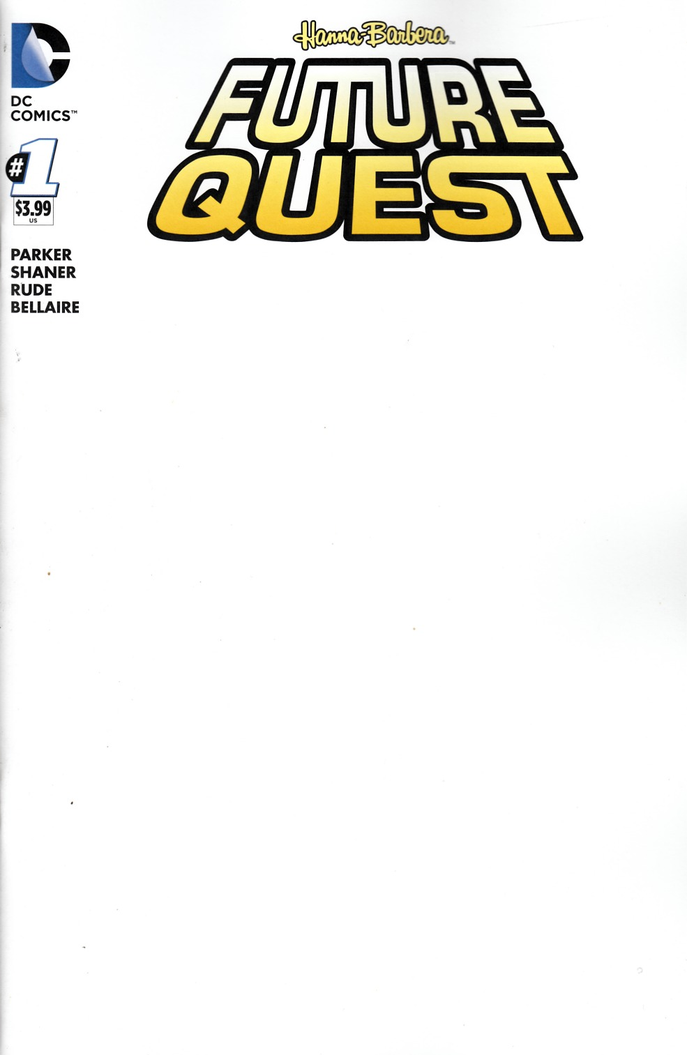 Future Quest #1 Blank Variant Cover [DC Comic] THUMBNAIL