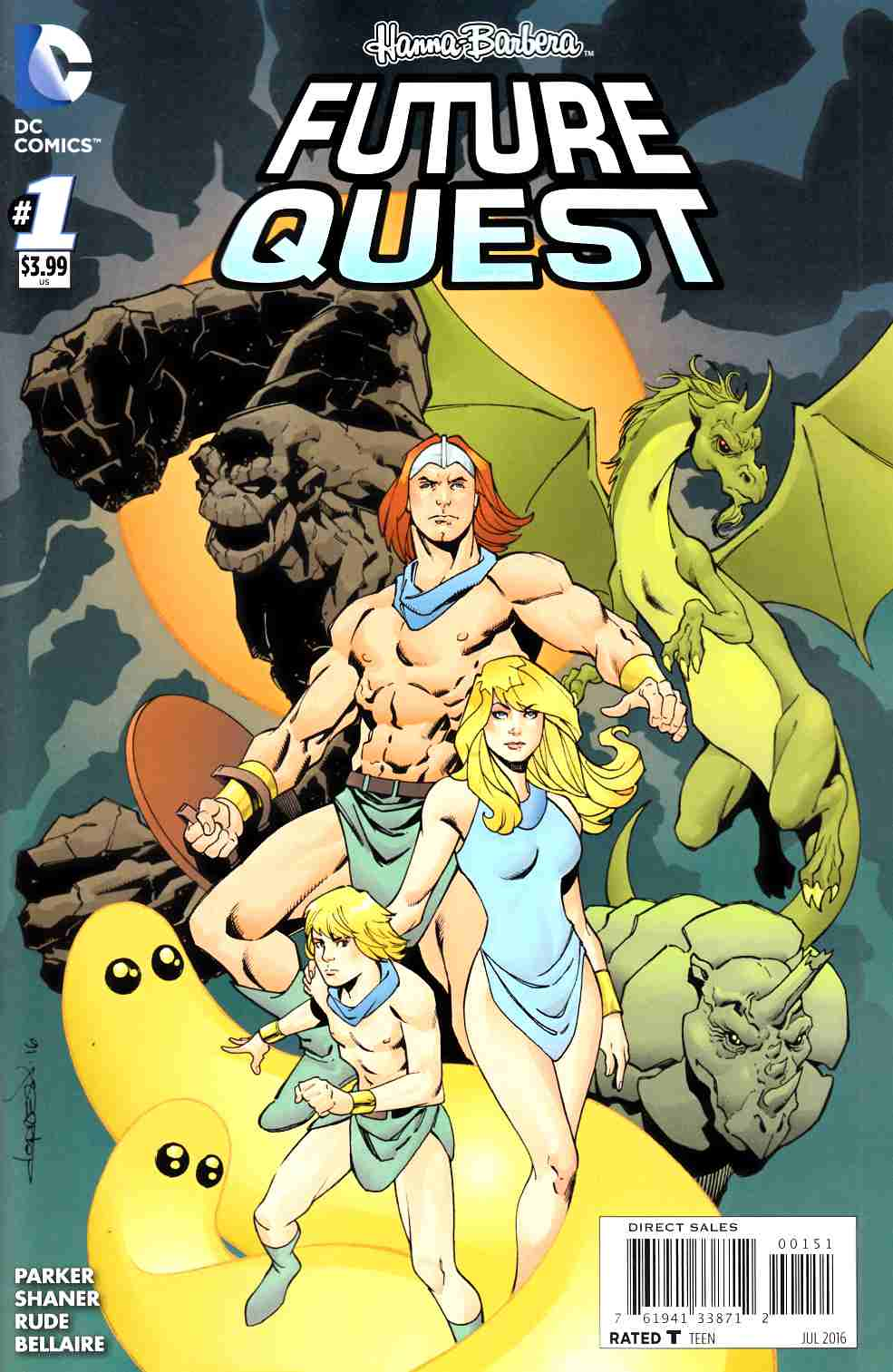 Future Quest #1 Herculoids Variant Cover [DC Comic] LARGE