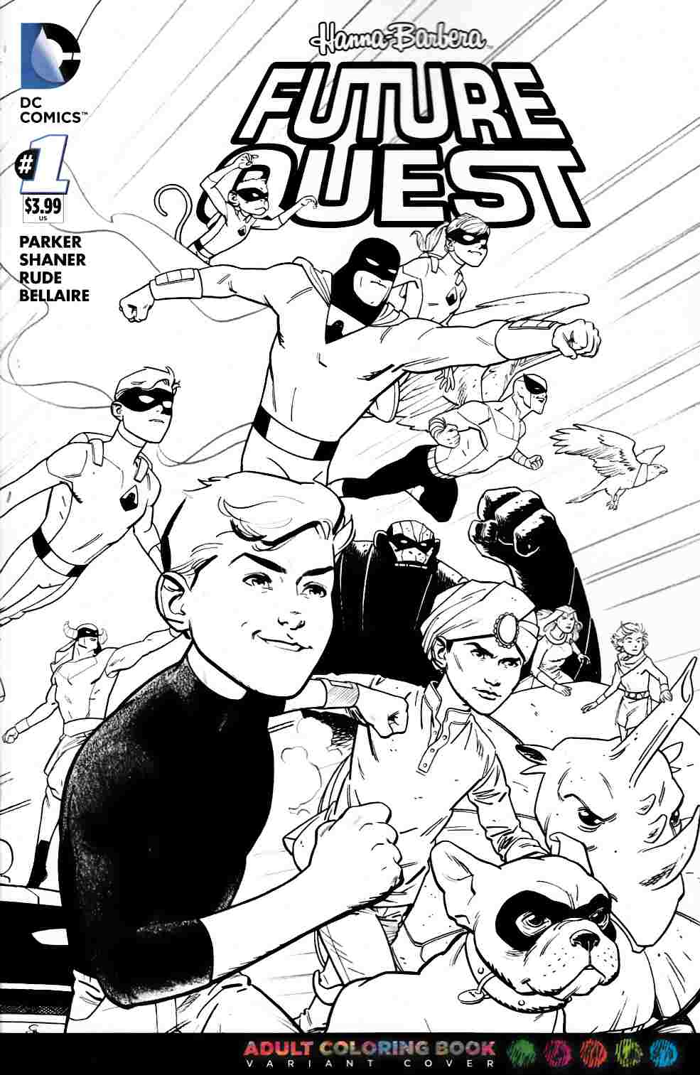 Future Quest #1 Coloring Book Variant Cover [DC Comic] THUMBNAIL