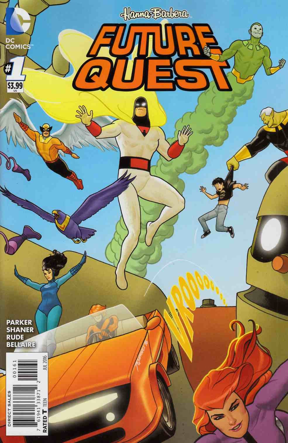 Future Quest #1 Action Heroes Variant Cover [DC Comic] LARGE