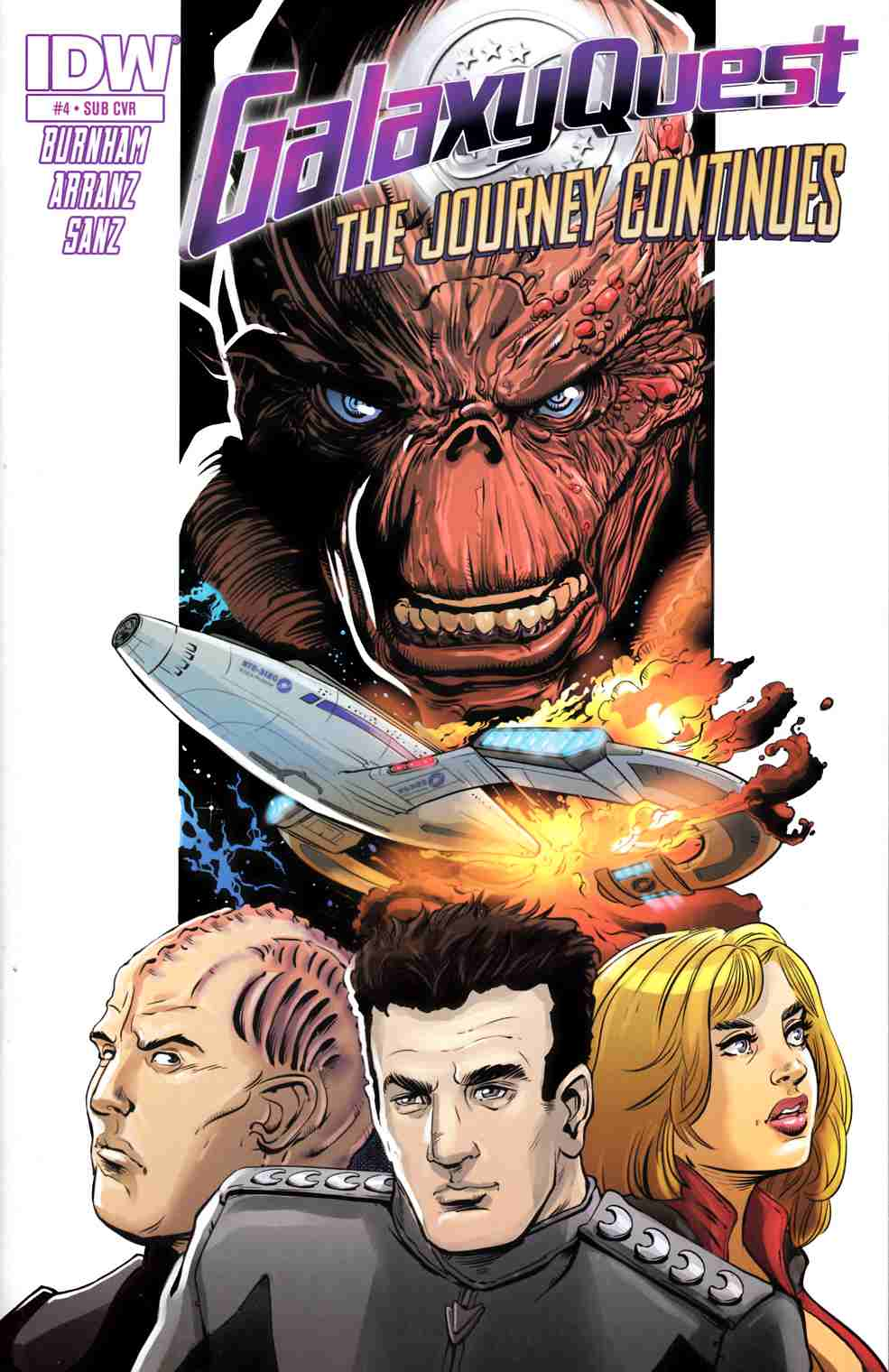 Galaxy Quest Journey Continues #3 Subscription Cover [IDW Comic] THUMBNAIL