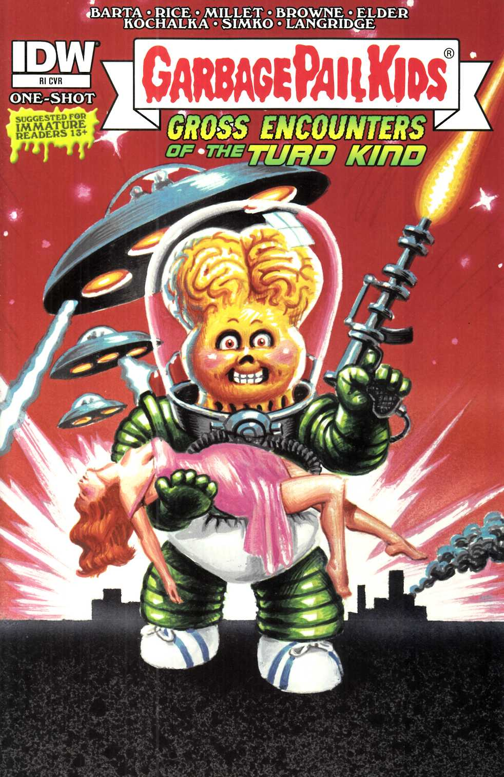 Garbage Pail Kids Gross Encounters (One Shot) Cover RI [IDW Comic]