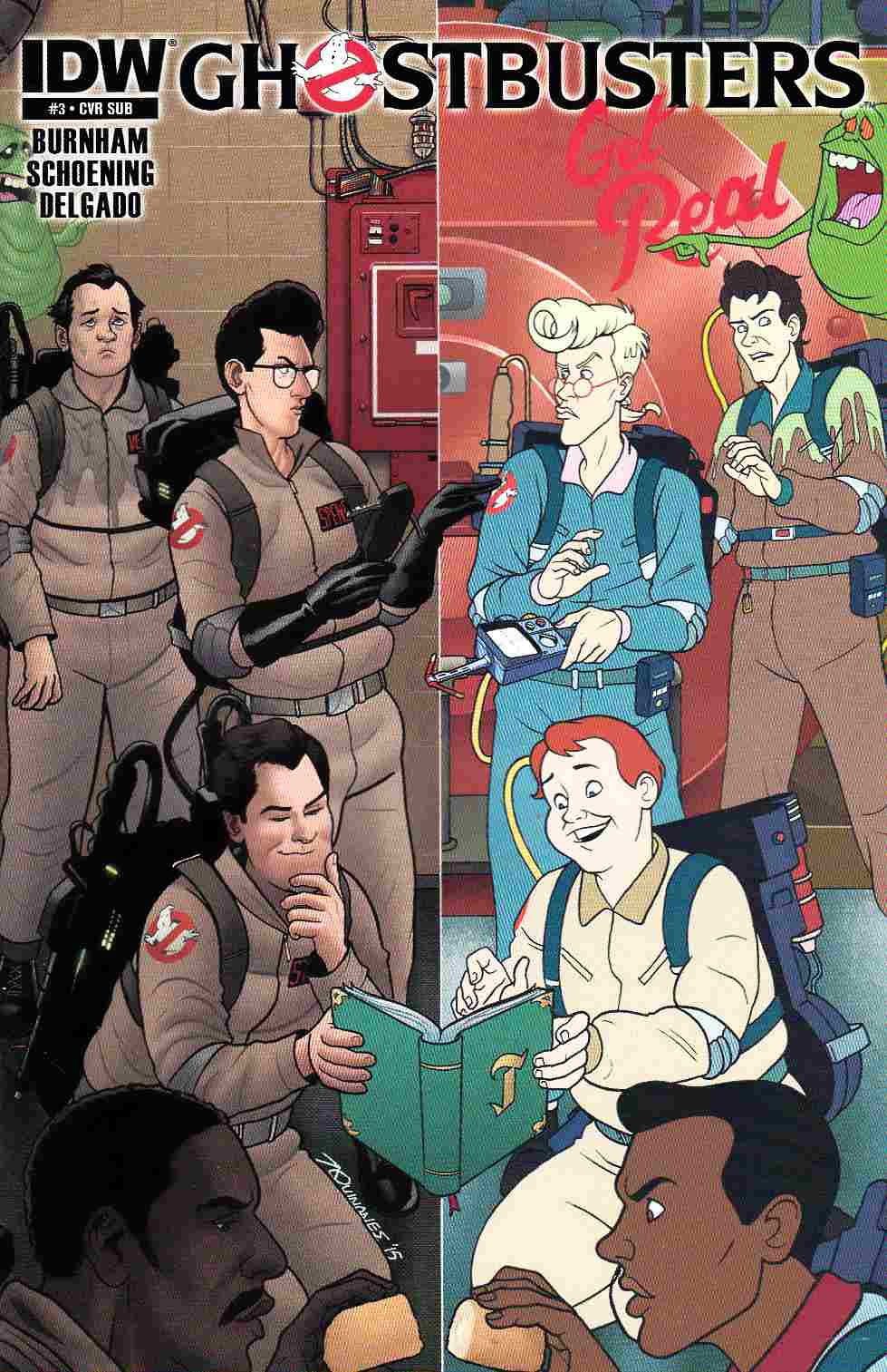 Ghostbusters Get Real #3 Subscription Cover [IDW Comic]