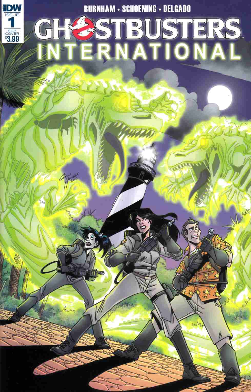 Ghostbusters International #1 Subscription Cover [IDW Comic] THUMBNAIL