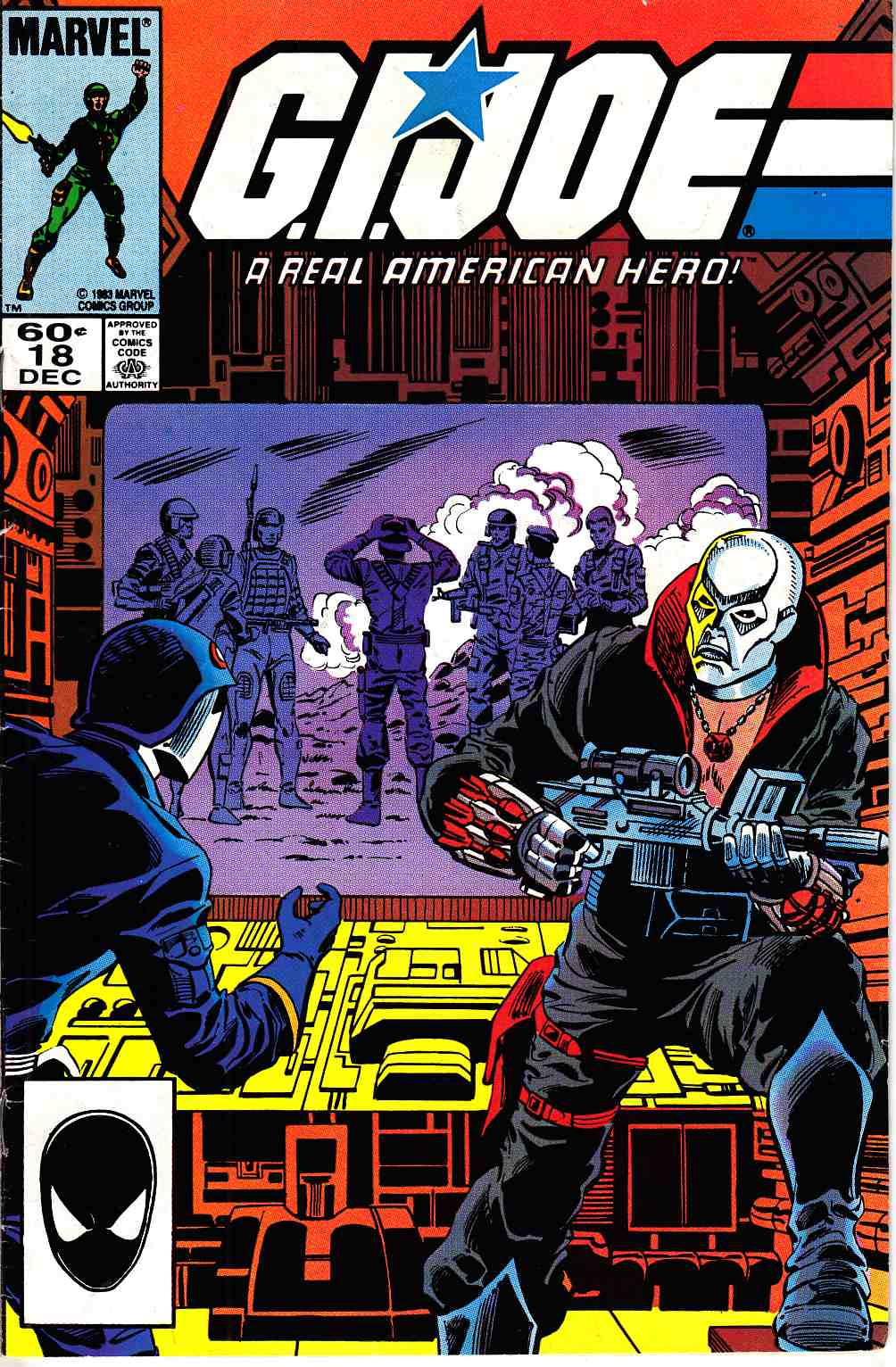 GI Joe A Real American Hero #18 Second Printing [Marvel Comic]_THUMBNAIL
