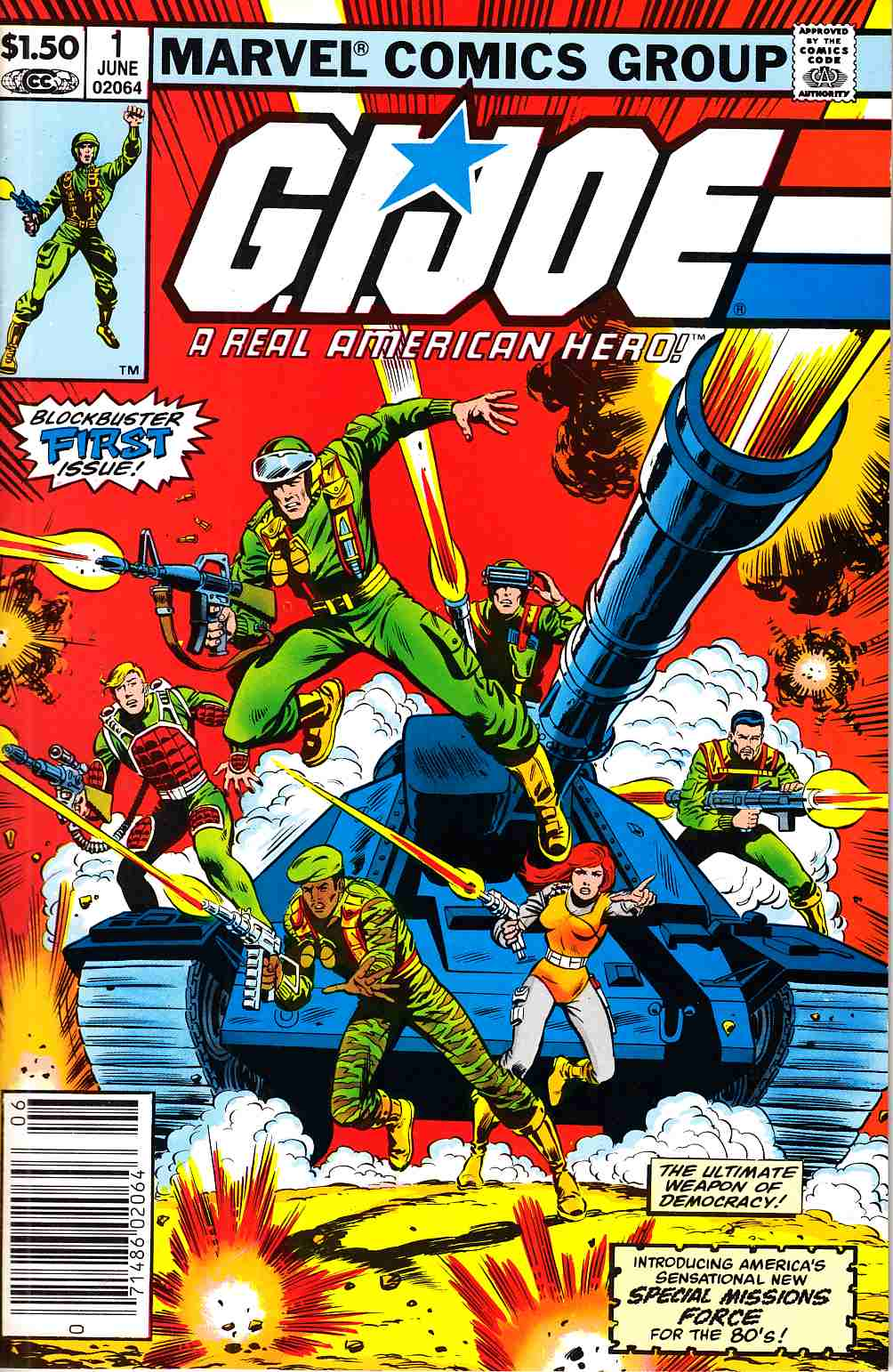 GI Joe A Real American Hero #1 Newsstand Edition [Marvel Comic]_THUMBNAIL