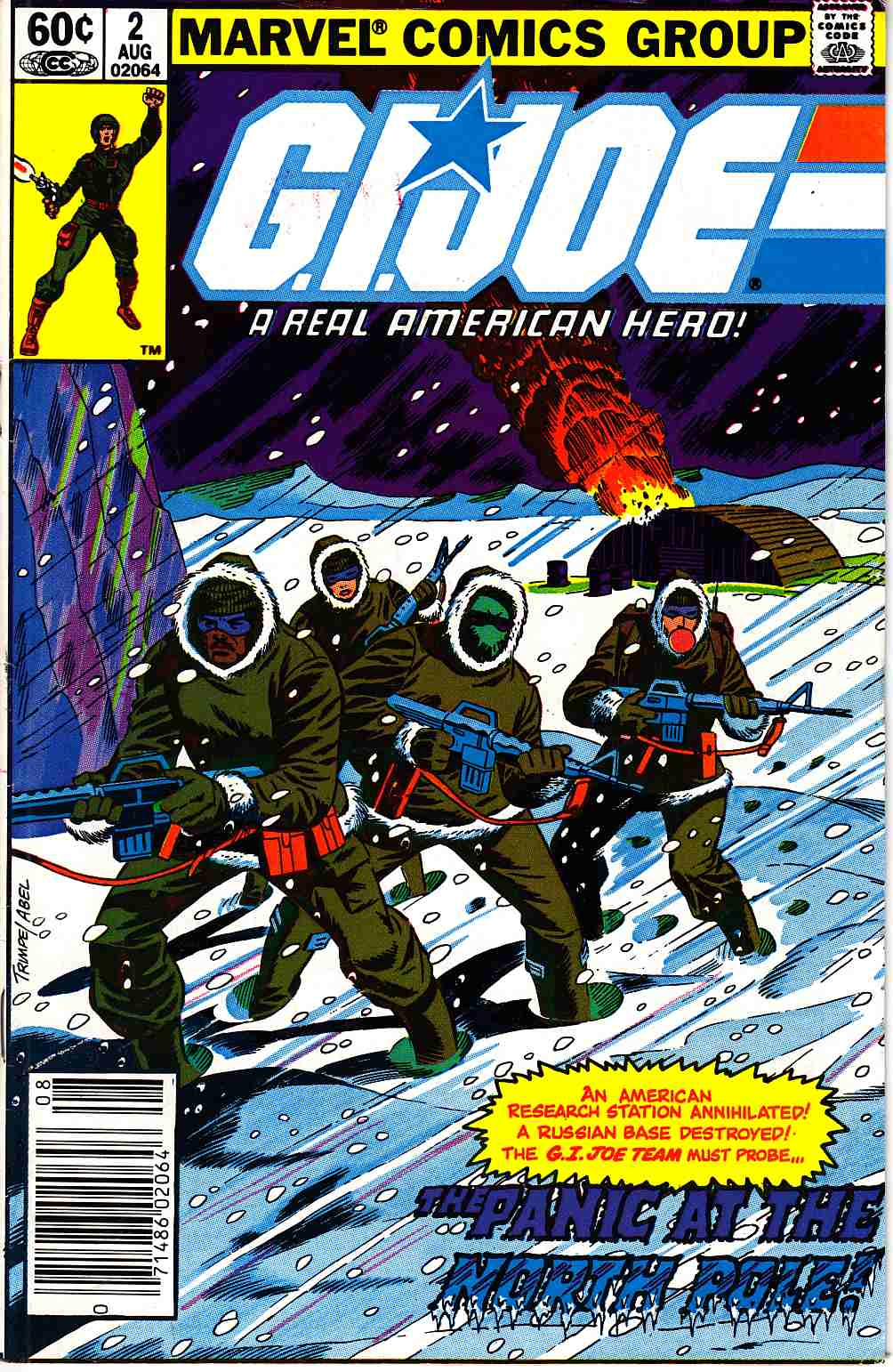 GI Joe A Real American Hero #2 Newsstand Edition Fine Minus (5.5) [Marvel Comic]_THUMBNAIL