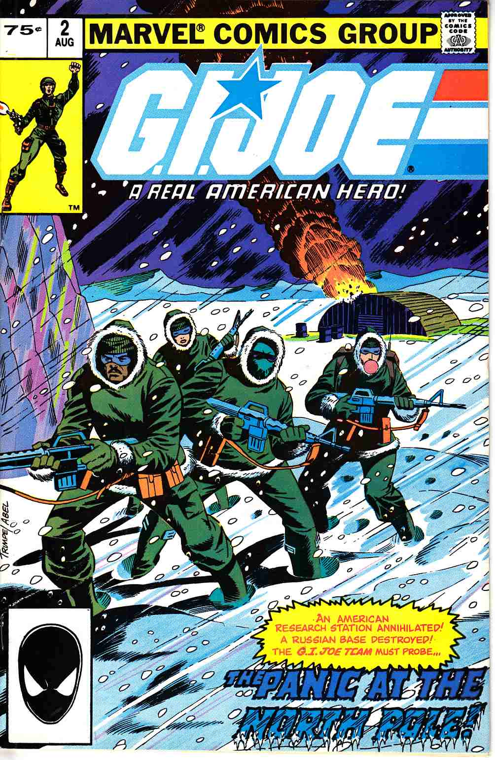 GI Joe A Real American Hero #2 Second Printing [Marvel Comic]_THUMBNAIL