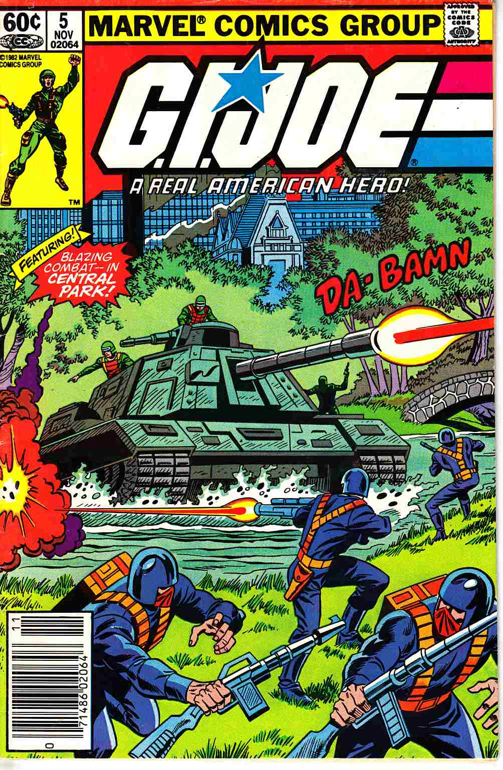 GI Joe A Real American Hero #5 Newsstand Edition [Marvel Comic]_THUMBNAIL