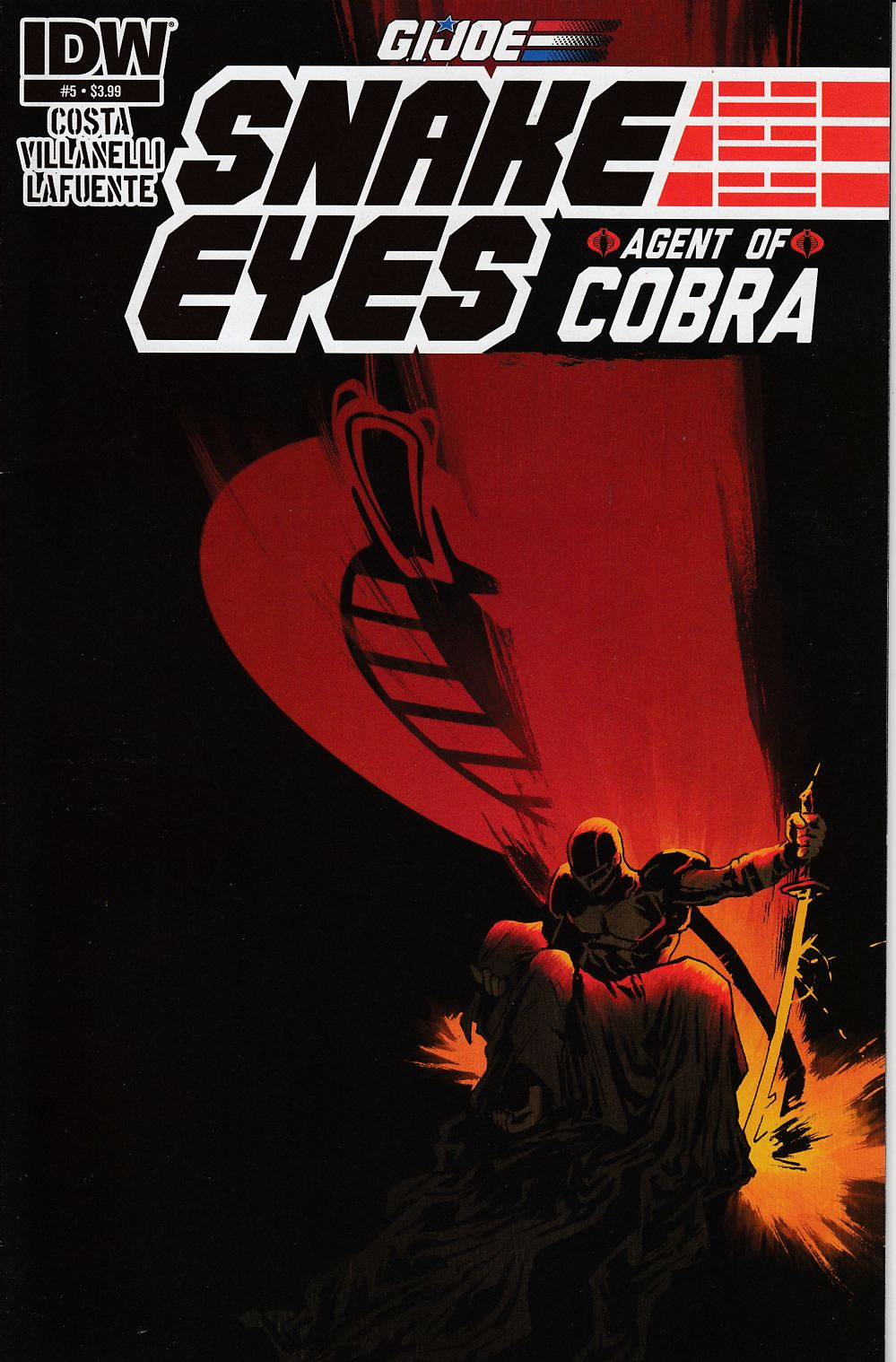 GI Joe Snake Eyes Agent Of Cobra #5 Very Fine (8.0) [IDW Comic]
