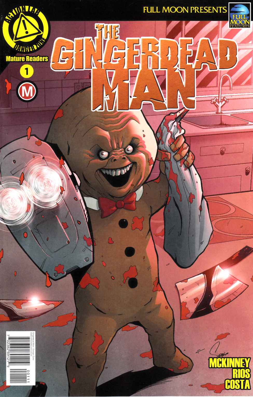 Gingerdead Man #1 Cover A- Rios & Costa [Danger Zone Comic] LARGE