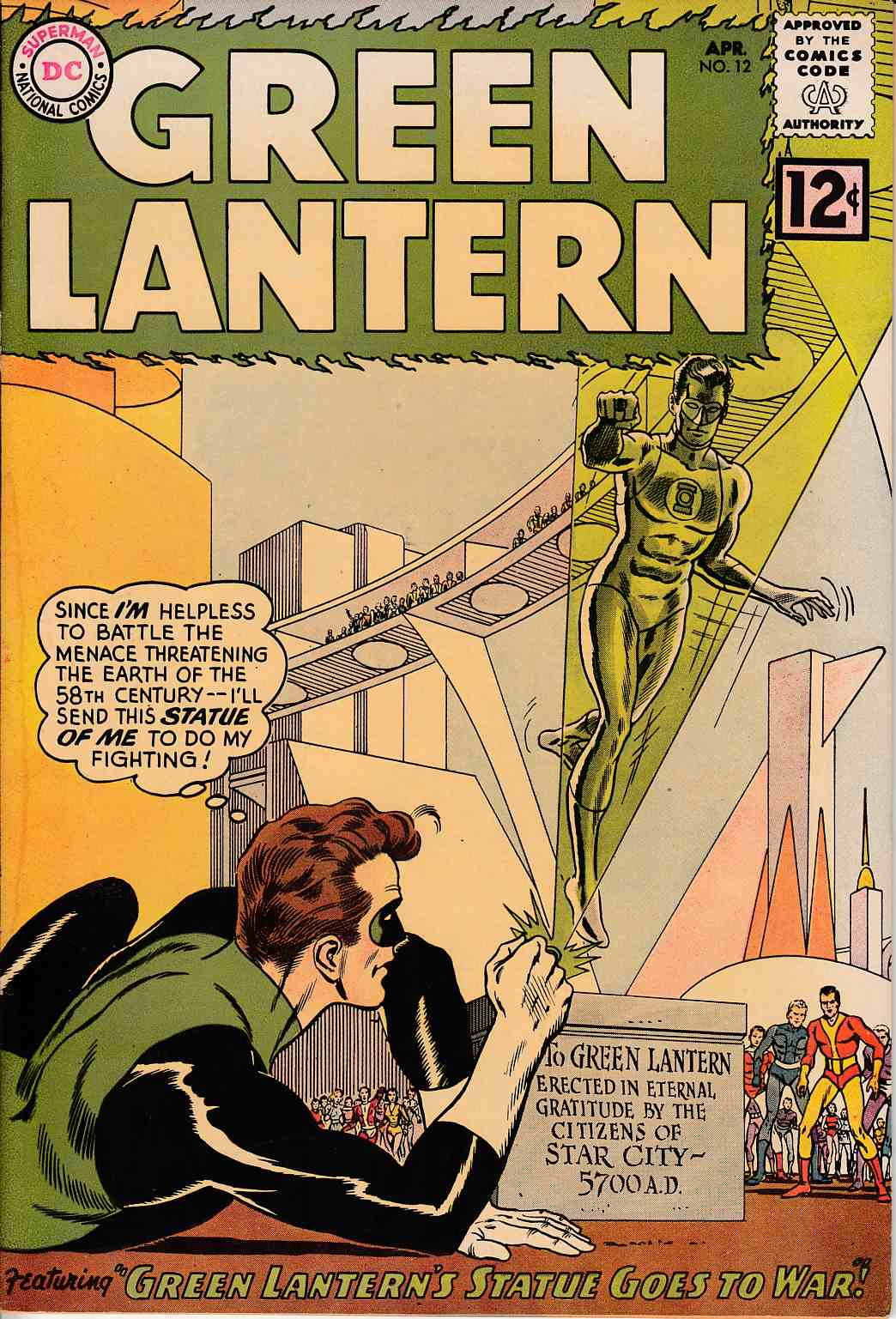 Green Lantern #12 Very Good Minus (3.5) [DC Comic]_THUMBNAIL