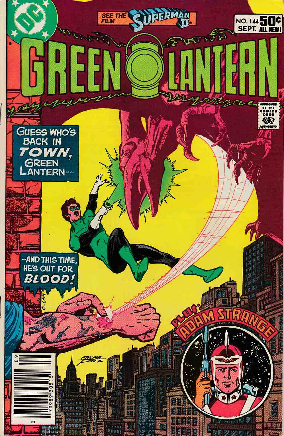Green Lantern #144 Newsstand Edition Very Fine Minus (7.5) [DC Comic] LARGE