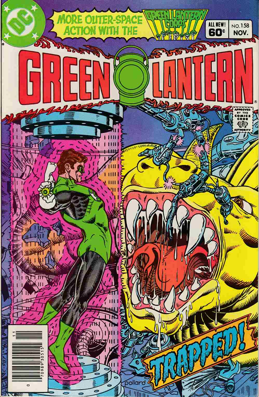 Green Lantern #158 Newsstand Edition Very Fine Minus (7.5) [DC Comic] LARGE