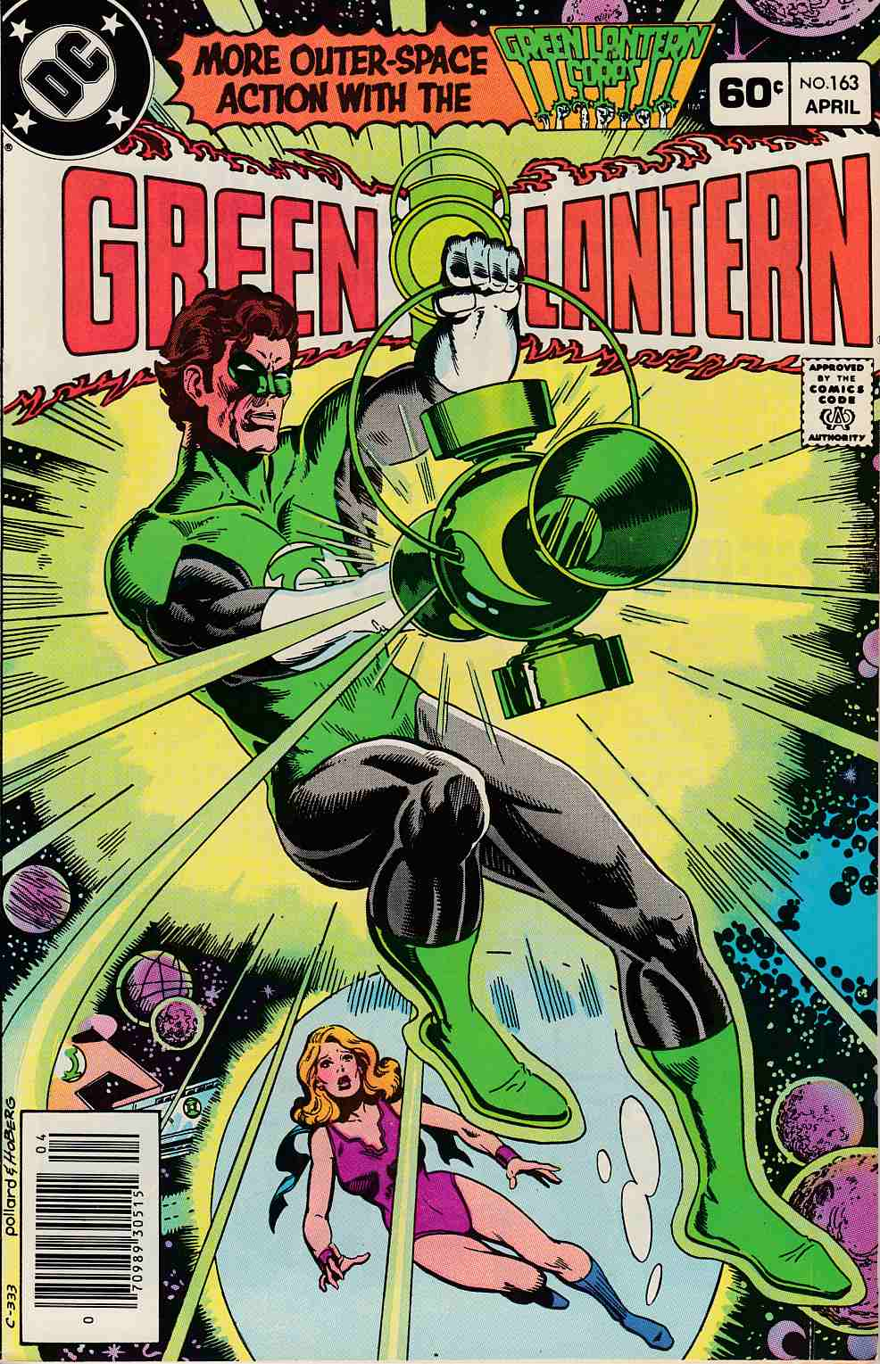 Green Lantern #163 Newsstand Edition Fine (6.0) [DC Comic] LARGE